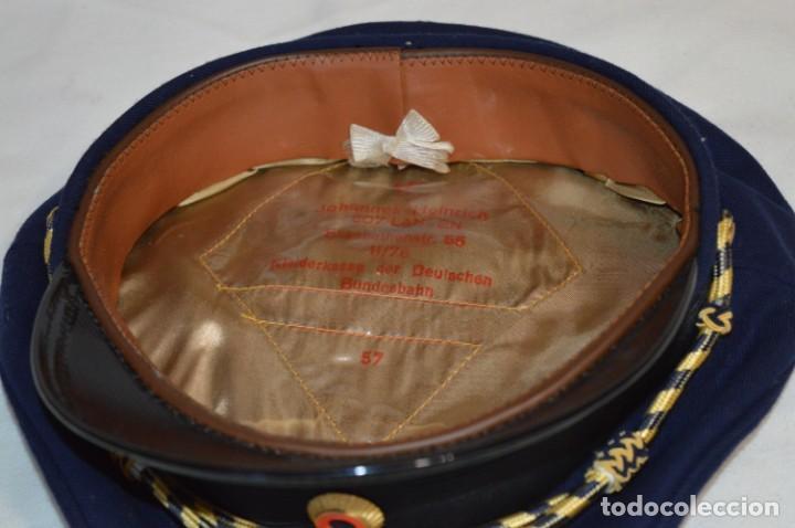Líneas de navegación: Vintage / Alemania - Gorra de plato en azul marino / JOHANNES HEINRICH 607 LANGE ¡Mira fotos! - Foto 7 - 264245044