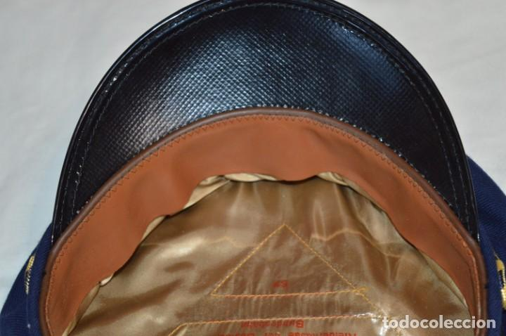 Líneas de navegación: Vintage / Alemania - Gorra de plato en azul marino / JOHANNES HEINRICH 607 LANGE ¡Mira fotos! - Foto 9 - 264245044