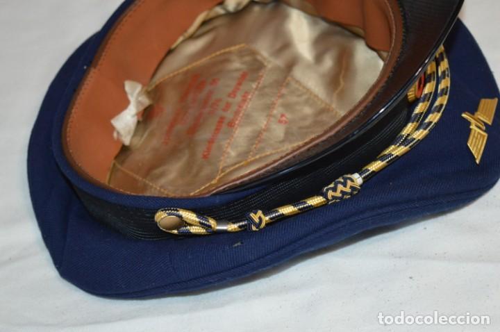 Líneas de navegación: Vintage / Alemania - Gorra de plato en azul marino / JOHANNES HEINRICH 607 LANGE ¡Mira fotos! - Foto 11 - 264245044