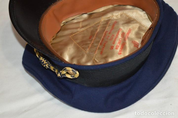 Líneas de navegación: Vintage / Alemania - Gorra de plato en azul marino / JOHANNES HEINRICH 607 LANGE ¡Mira fotos! - Foto 10 - 264245044