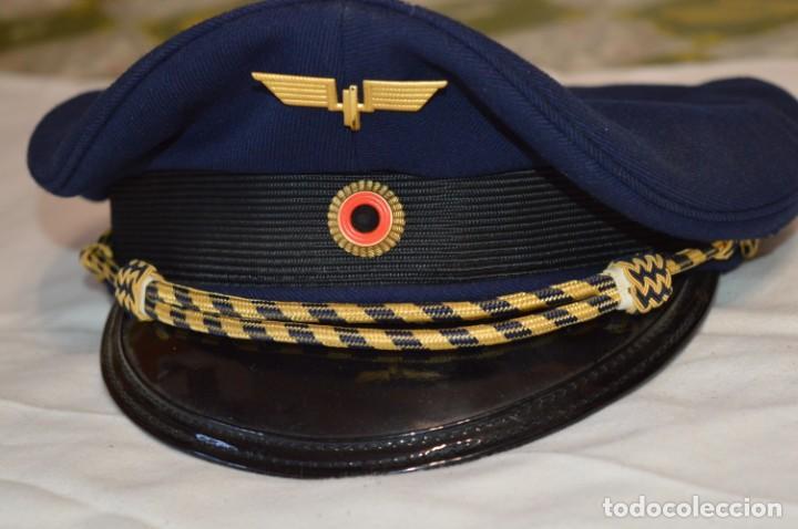 Líneas de navegación: Vintage / Alemania - Gorra de plato en azul marino / JOHANNES HEINRICH 607 LANGE ¡Mira fotos! - Foto 2 - 264245044