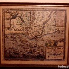 Lignes de navigation: CARTE DU GOUVERNAMENT DE TARRAGONE -1664- ANTIGUA CARTA- MAPA- DE NAVAGACION TARRAGONA. Lote 265381779
