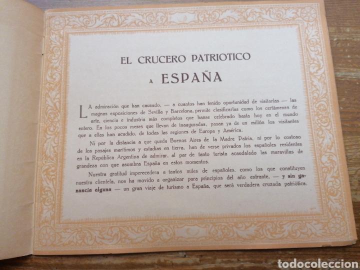 Líneas de navegación: GRAN CRUCERO PATRIÓTICO ESPAÑA - MONTE SARMIENTO. 1930 - Foto 3 - 265775489