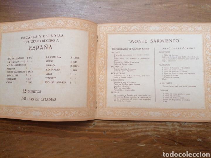 Líneas de navegación: GRAN CRUCERO PATRIÓTICO ESPAÑA - MONTE SARMIENTO. 1930 - Foto 5 - 265775489