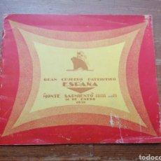Líneas de navegación: GRAN CRUCERO PATRIÓTICO ESPAÑA - MONTE SARMIENTO. 1930. Lote 265775489