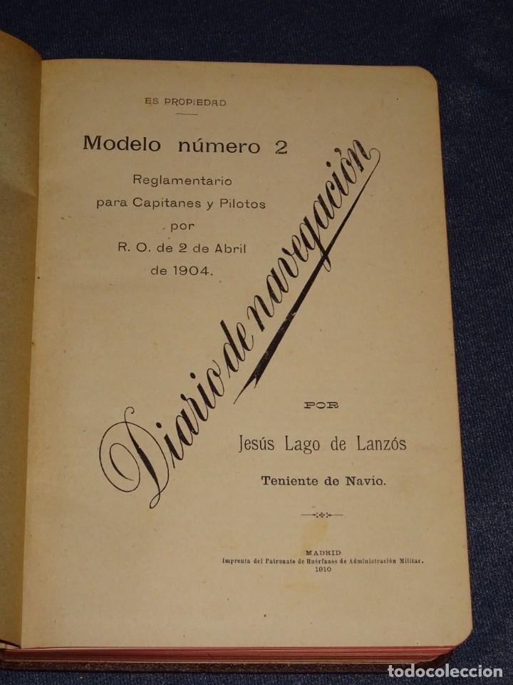 LIBRO DIARIO DE NAVEGACION - LINEA DE VAPORES PINILLOS 1911, HABANA, PUERTO RICO, VALENCIA, CADIZ , (Coleccionismo - Líneas de Navegación)