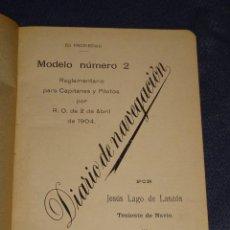 Líneas de navegación: LIBRO DIARIO DE NAVEGACION - LINEA DE VAPORES PINILLOS 1911, HABANA, PUERTO RICO, VALENCIA, CADIZ ,. Lote 266516748