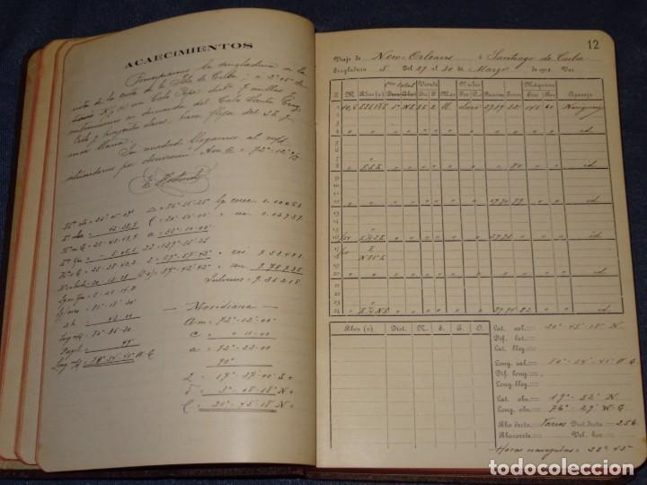 Líneas de navegación: LIBRO DIARIO DE NAVEGACION - LINEA DE VAPORES PINILLOS 1911, HABANA, PUERTO RICO, VALENCIA, CADIZ , - Foto 4 - 266516748