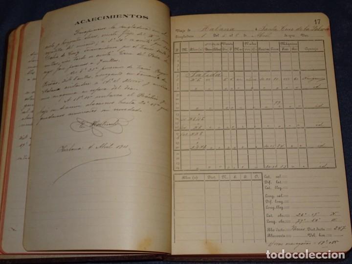 Líneas de navegación: LIBRO DIARIO DE NAVEGACION - LINEA DE VAPORES PINILLOS 1911, HABANA, PUERTO RICO, VALENCIA, CADIZ , - Foto 5 - 266516748