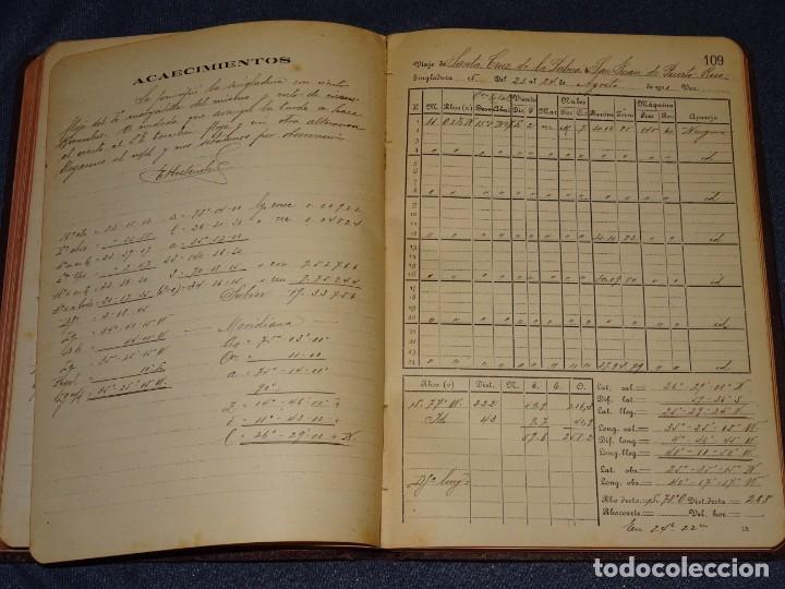 Líneas de navegación: LIBRO DIARIO DE NAVEGACION - LINEA DE VAPORES PINILLOS 1911, HABANA, PUERTO RICO, VALENCIA, CADIZ , - Foto 6 - 266516748
