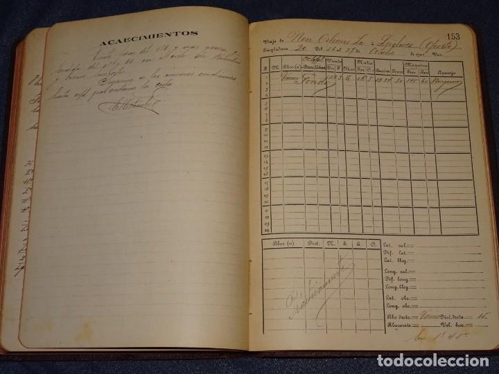 Líneas de navegación: LIBRO DIARIO DE NAVEGACION - LINEA DE VAPORES PINILLOS 1911, HABANA, PUERTO RICO, VALENCIA, CADIZ , - Foto 7 - 266516748