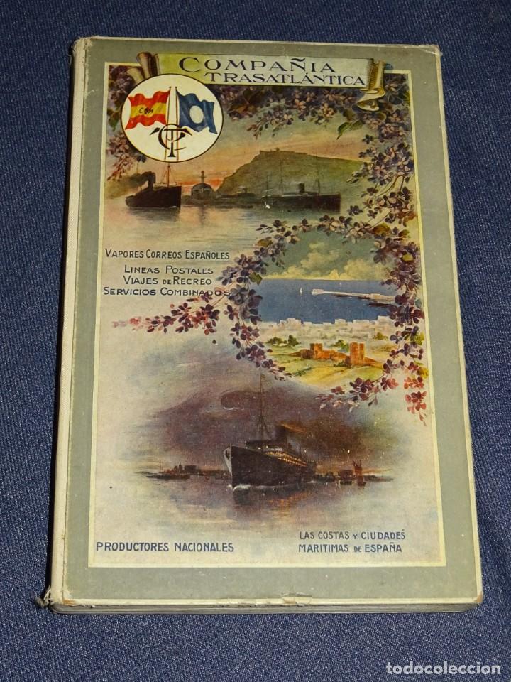 COMPAÑIA TRASATLANTICA , VAPORES CORREOS ESPAÑOLES, VIAJES POSTALES 1913 - 14 , ANTES A LOPEZ Y CIA (Coleccionismo - Líneas de Navegación)