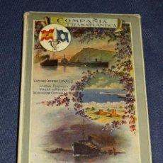 Líneas de navegación: COMPAÑIA TRASATLANTICA , VAPORES CORREOS ESPAÑOLES, VIAJES POSTALES 1913 - 14 , ANTES A LOPEZ Y CIA. Lote 266517658