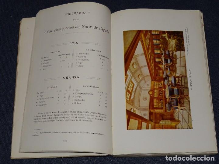Líneas de navegación: COMPAÑIA TRASATLANTICA , VAPORES CORREOS ESPAÑOLES, VIAJES POSTALES 1913 - 14 , ANTES A LOPEZ Y CIA - Foto 4 - 266517658