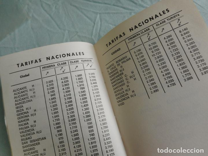 Líneas de navegación: IBERIA.LINEAS AEREAS ESPAÑA.HORARIOS LOCALES.DELEGACION ZARAGOZA 1969.EL CACHIRULO.RESTAURANTE - Foto 9 - 267518639