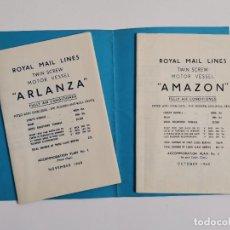 Linhas de navegação: ROYAL MAIL LINES. TWIN SCREW MOTOR VESSEL. ARLANZA Y AMAZON, 1960.. Lote 269411578