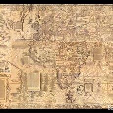 Linhas de navegação: CARTA MARINA MUNDIAL GIGANTE - WALDSEEMÜLLER 1516 ¡A TAMAÑO REAL! 2400X1350 MM. PORTULANO, NAUTICA. Lote 271584273
