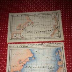 Linhas de navegação: DERROTEROS VIAJE DEL BUQUE CABO MAYOR - CEUTA - NUEVA YORK - PRINCIPIOS SIGLO XX. Lote 275329958
