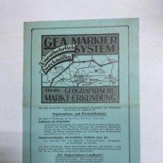 Líneas de navegación: GEA MARKIER SYSTEM. GEOGRAPHISCHE MARKT-ERKUNDUNG. ALEMANIA. VER FOTOS. Lote 278178733