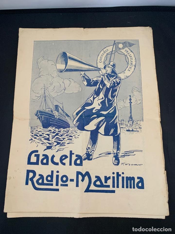 GACETA RADIO MARITIMA AÑO 1929 HISPANO RADIO MARITIMA (Coleccionismo - Líneas de Navegación)