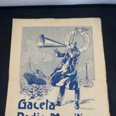 Líneas de navegación: GACETA RADIO MARITIMA AÑO 1929 HISPANO RADIO MARITIMA. Lote 285626668