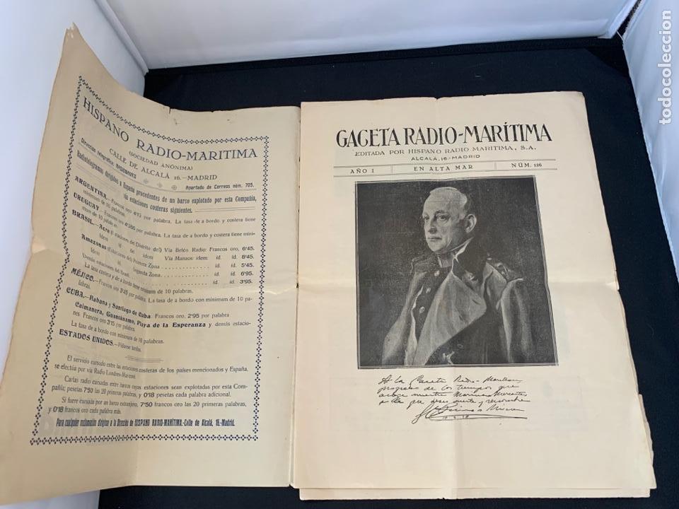 Líneas de navegación: GACETA RADIO MARITIMA AÑO 1929 HISPANO RADIO MARITIMA - Foto 2 - 285626668
