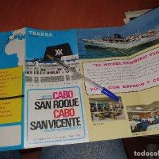 Lignes de navigation: CABO SAN ROQUE, YBARRA, CUADRIPTICO PUBLICITARIO, EN 8° ALARGADO. Lote 286270633