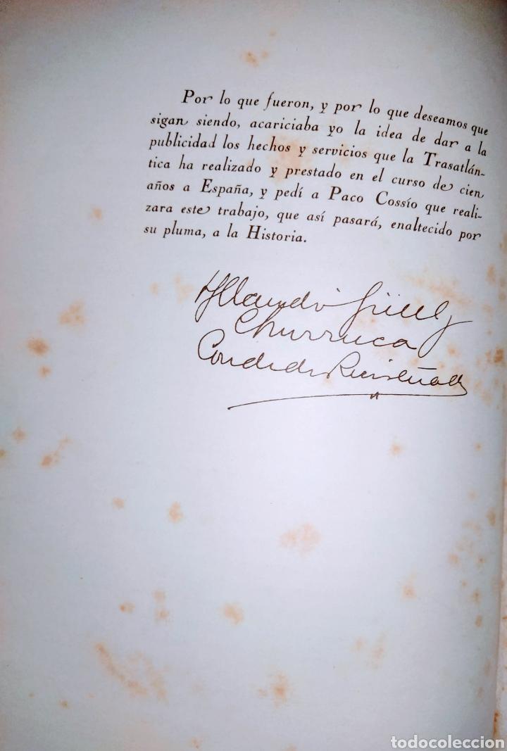 Líneas de navegación: Cien años de vida sobre el mar. 1850 - 1950. Compañía Trasatlantica. 2000 ejemplares. - Foto 8 - 286880583