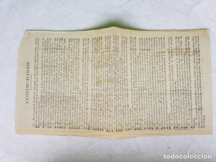 Líneas de navegación: VAPORES DE OLAVARRIA LOZANO 1906 ? FLETE DE PUEBLA A GIJON ASTURIAS RICARDO LAMPON PUEBLA CARAMIÑAL - Foto 3 - 287268098