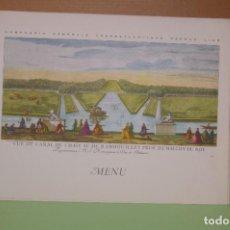 Líneas de navegación: MENU 1960 PAQUEBOT LIBERTE COMPAGNIE GENERALE TRANSATLANTIQUE FRENCH LINE. Lote 290153818