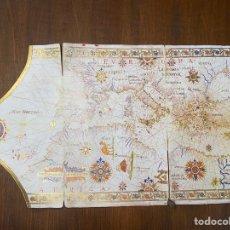 Linhas de navegação: FACSÍMIL DE CARTA NÁUTICA DE LA BIBLIOTECA NACIONAL DE ESPAÑA. Lote 293281563