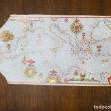 Linhas de navegação: FACSÍMIL DE CARTA NÁUTICA DE LA BIBLIOTECA NACIONAL DE ESPAÑA. Lote 293281748