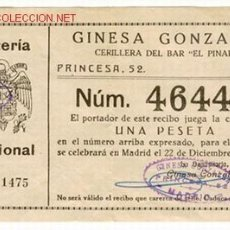 Lotería Nacional: LOTERÍA SORTEO 22 DICIEMBRE 1945. Lote 27633117
