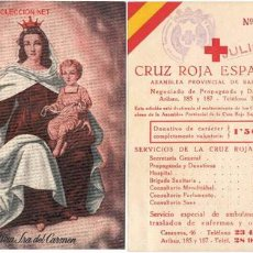 Lotería Nacional: CRUZ ROJA ESPAÑOLA. Lote 20858425
