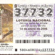 Lotería Nacional: LOTERÍA NACIONAL. 14 DE ENERO DE 2006. FARO DE PUNTA DEL MORO, LA PALMA, CANARIAS.. Lote 3446810