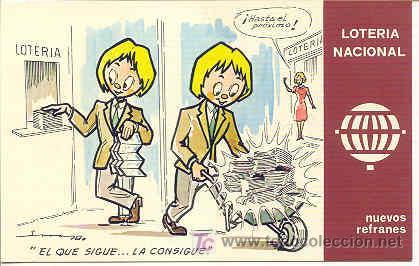 POSTAL DE LOTERIA NACIONAL -DE LA COLECCION NUEVOS REFRANES (Coleccionismo - Lotería Nacional)