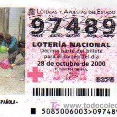 Lotería Nacional - LOTERIA NACIONAL - 2000 - 28 OCTUBRE - CRUZ ROJA ESPAÑOLA - 4464198