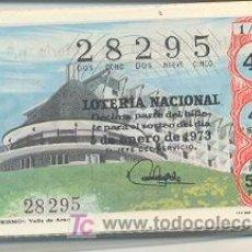 Lotería Nacional: 9-176. LOTERIA NACIONAL. SÁBADOS. AÑO 1973. COMPLETO. Lote 6817509