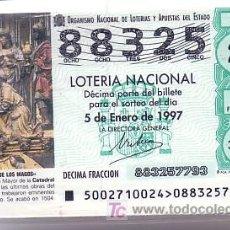 Lotería Nacional: LOTERIA NACIONAL. 1997 AÑO COMPLETO. ARTE EN LAS CATEDRALES ESPAÑOLAS.. Lote 12937160
