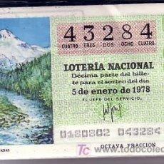 Lotería Nacional: LOTERIA. 1978 AÑO COMPLETO. LOS RECURSOS NATURALES. Lote 22330922