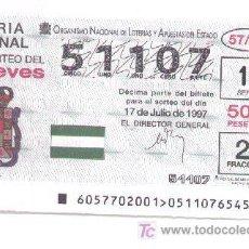 Lotería Nacional: 10-54. LOTERIA DEL JUEVES. SORTEO 57/97. Lote 5348174