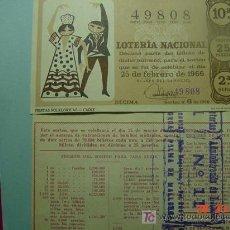 Lotería Nacional: 277 LOTERIA NACIONAL DECIMO SORTEO 9 AÑO 1966 PALMA DE MALLORCA ADMINISTRACION - COSAS&CURIOSAS. Lote 5350545