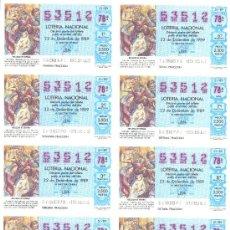 Lotería Nacional: BILLETE LOTERIA NACIONAL 1989 . Lote 6261967