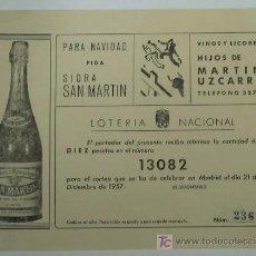 Lotería Nacional: LOTERIA NACIONAL 1957. Lote 6464414