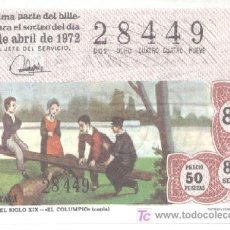 Lotería Nacional: REPRODUCCION DECIMO LOTERIA ABRIL 1972. Lote 154561949