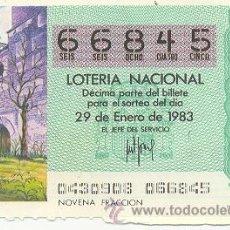 Lotería Nacional: 9-83-4. DECIMO LOTERIA SORTEO 4 DE 1983. Lote 8489016