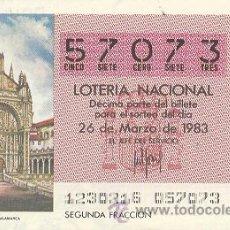 Lotería Nacional: 9-83-12. DECIMO LOTERIA SORTEO 12 DE 1983. Lote 25770768