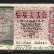 Lotería Nacional: LOTERÍA NACIONAL DE LOS SÁBADOS - ¡¡¡ COLECCIÓN COMPLETA 1983 !!!. Lote 25664197