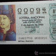 Lotería Nacional: NUMERO BAJO DE LOTERIA 00094. Lote 9564655