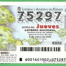 Lotería Nacional: 2006 AÑO COMPLETO DE LOTERÍA NACIONAL CON JUEVES Y SÁBADOS (PR13). Lote 10173757